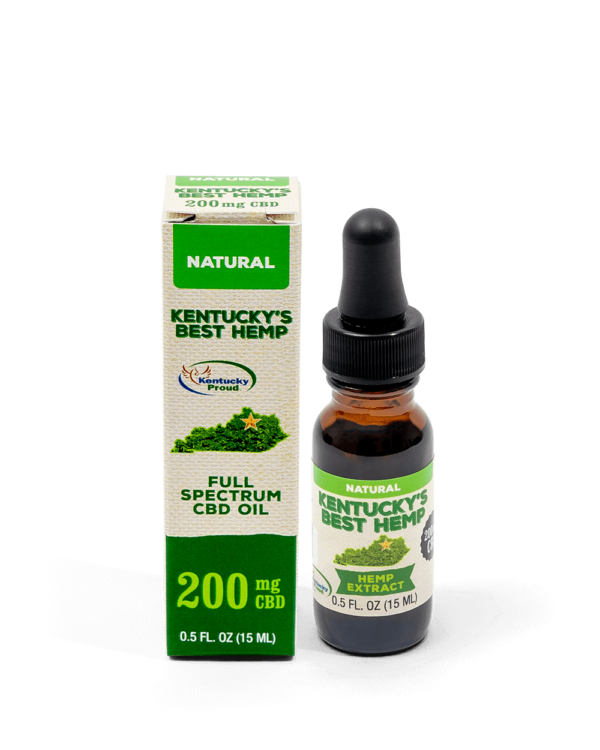Full Spectrum CBD Oil Hemp Extract Natural Flavor 200mg