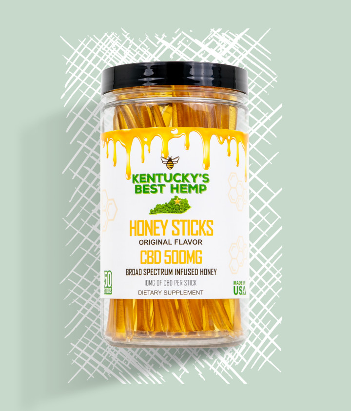 Kentucky's Best Hemp CBD Honey Sticks Hero