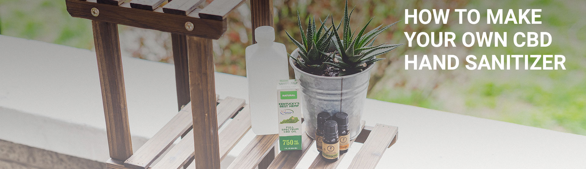 How to make your own CBD hand sanitizer Hero Image