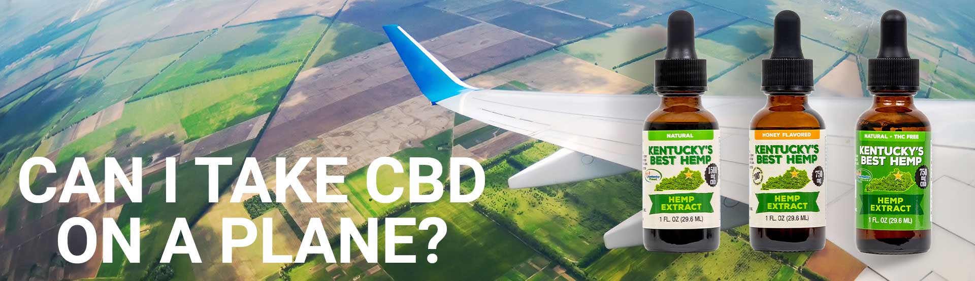 Can you Bring CBD on a plane? Hero Image