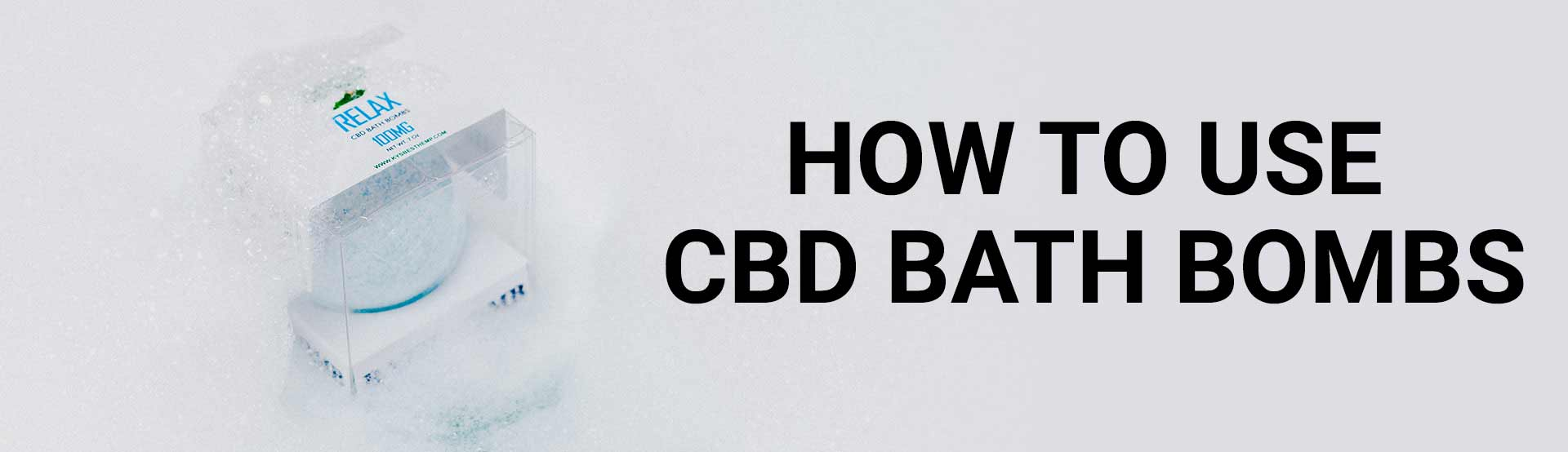 How to use CBD bath Bombs - Image of bath bomb in tub