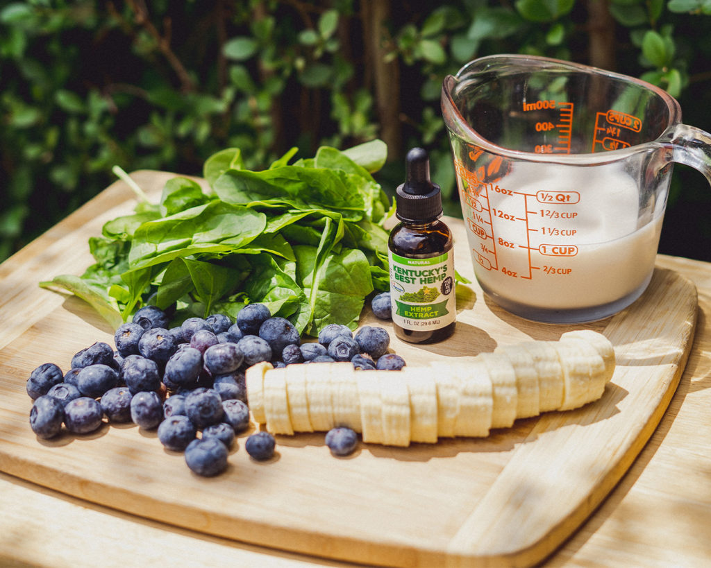 Making your own CBD Smoothie Image of ingredients