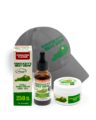 Ky's Best Father's Day Bundle - Image of CBD oil, best hemp hat, and CBD Salve