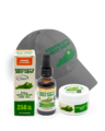 Ky's Best Father's Day Bundle - Image of full spectrum CBD oil, best hemp hat, and CBD Salve
