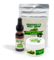 Ky's Best Father's Day Bundle - Image of cinnamon CBD oil, best hemp hat, and CBD Salve