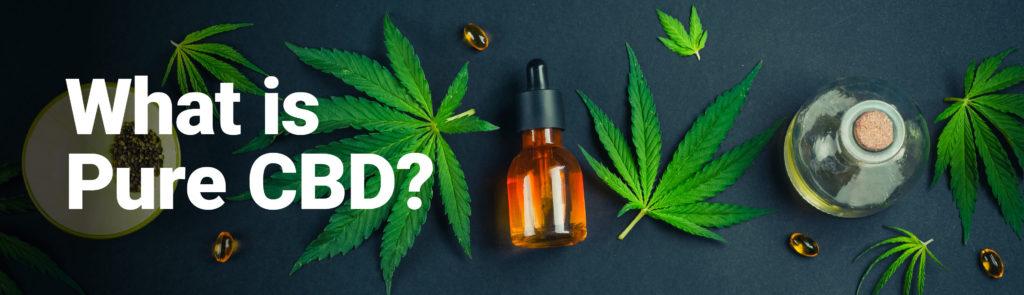 Image of hemp leaves, CBD oil, CBD capsules