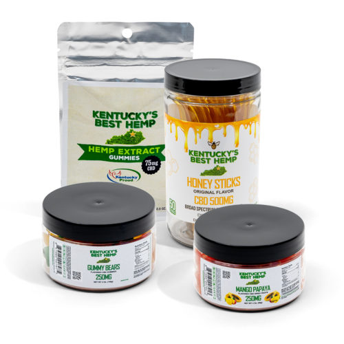 CBD Edibles Bundle Image - CBD Dried fruit, CBD honey sticks, cbd gummies
