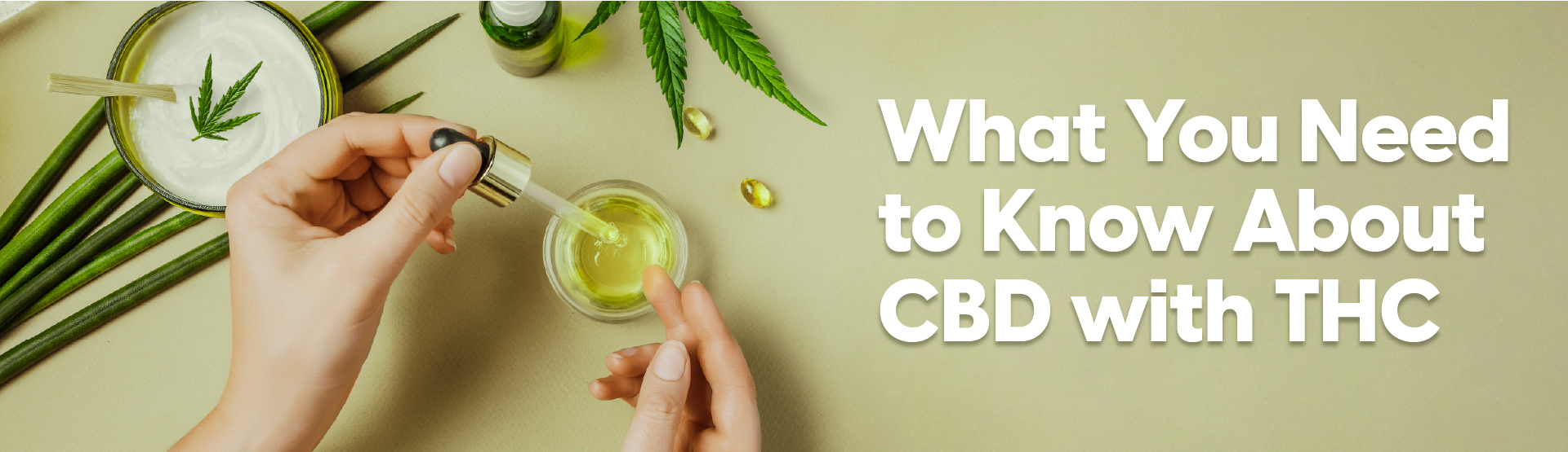 What You Need to Know About CBD With THC - Image of CBD oil